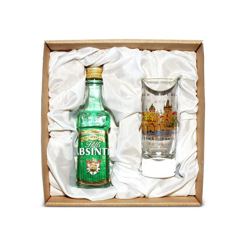 mini Absinth sada sklo
