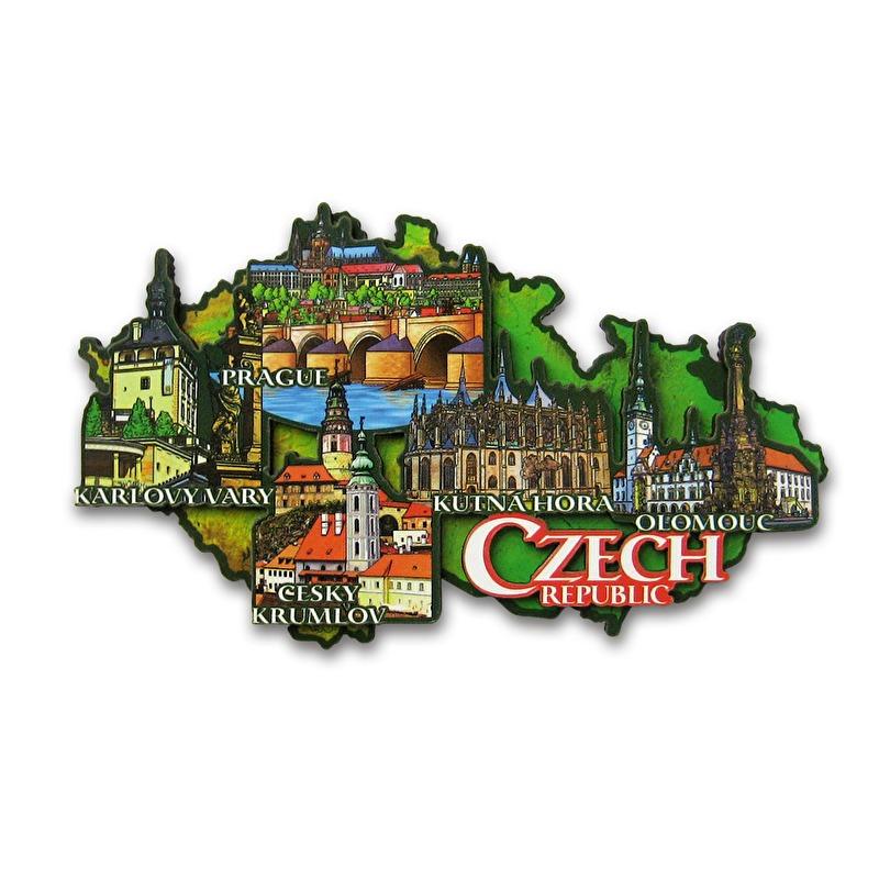 Prag Karte Tschechien.Magnet 3d Karte Der Tschechischen Republik Suvenyry Com