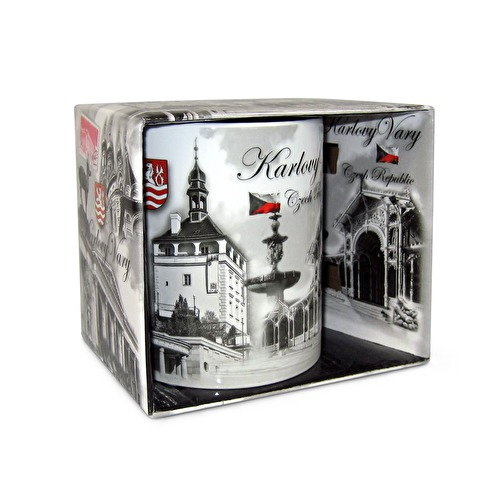 Mug Karlovy Vary with a box Montaz