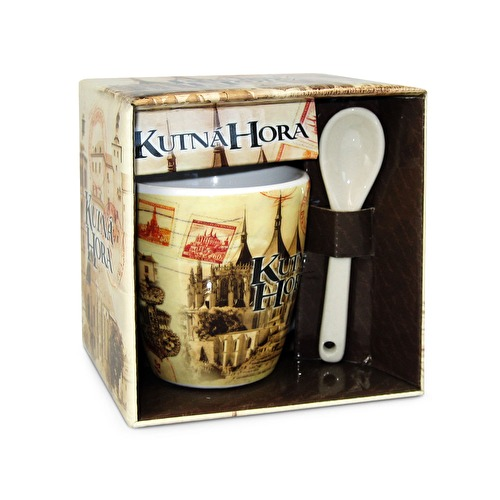 Mug Kutna Hora with a spoon Retro