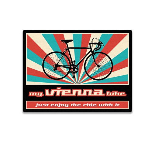 Wooden magnet 3D Bicycle Vienna 54.