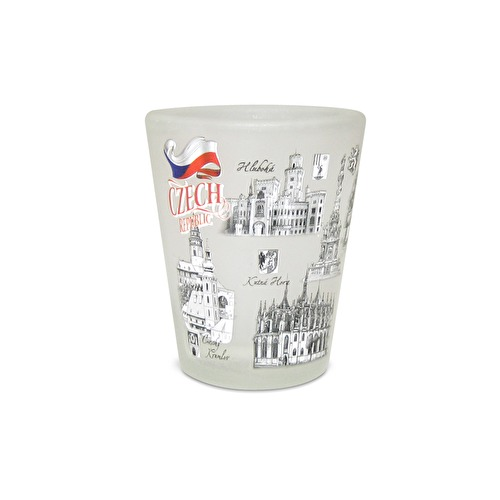 Shotglass Czech Republic frozen