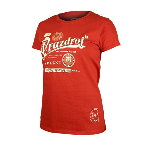 Red women's T-shirt Pilsner Urquell barrel