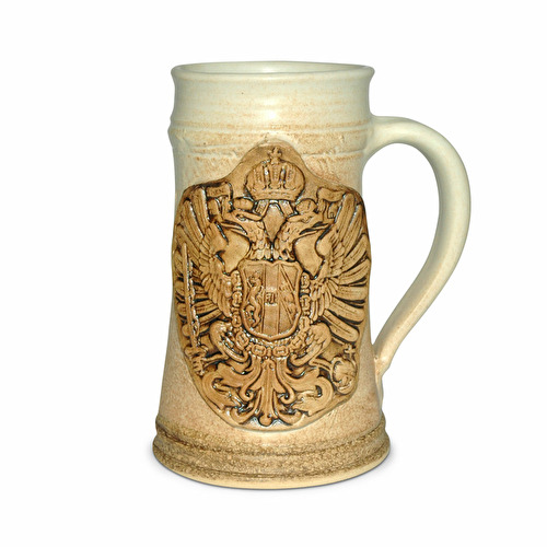 Ceramic tankard Austria light