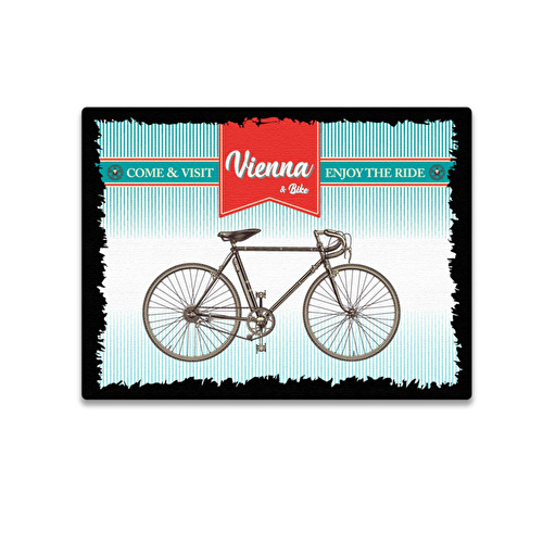 Wooden magnet 3D Bicycle Vienna 56.