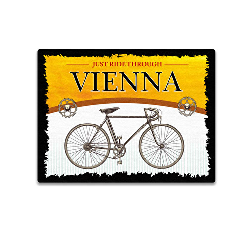 Wooden magnet 3D Bicycle Vienna 55.
